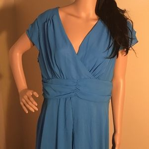 Dresses & Skirts - Sheer Light Blue Dress w/side zipper size XXL